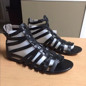 Sam Edelman black Leather gladiator sandal sz 9